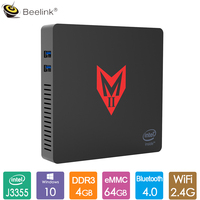Beelink MII V Office MINI PC Intel Apollo Lake J3355 Win 10 4GB LPDDR4 64GB 2.4G 5G Dual WiFi BT4.0 1000M LAN Media Player