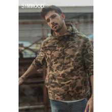 Simwood 2020 Lente Winter Nieuwe Camouflage Half Zip Trui Jas Mannen Hooded Streetwear Katoen Hip Hop Militaire Jassen 190394