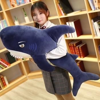 Huggable New Simulation Shark Plush Toy Soft Stuffed Cartoon Animal Megalodon Doll Sofa Bed Pillow Cushion Baby Children Gift