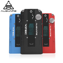 Augvape VTEC1.8 200w Electronic Cigarette Mod Auto Bypass V Mode OLED Display 510 Connector Mod Box New Version Vape Box Mod(China)