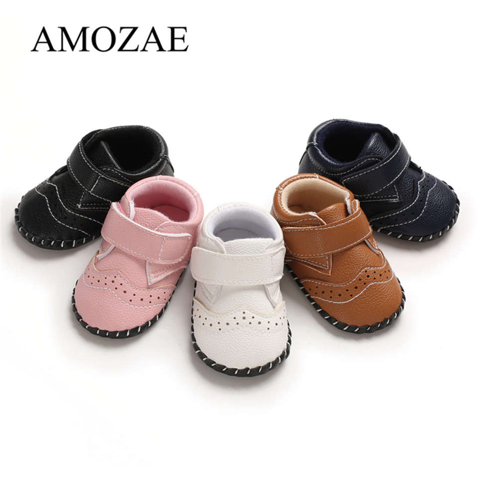 2020 Brand New Arrival Newborn Baby Girl Boy Soft Sole Leather Crib Shoes Antislip Sneaker Prewalker First Walkers -18M