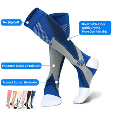 Носки компрессионные для мужчин и женщин, спортивные носки для марафона, велоспорта, футбола, варикозного расширения вен, 20 30 мм рт. Ст.