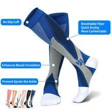 Calcetines de compresión para correr, para hombre y mujer, 20 30mm Hg, para maratón, ciclismo, fútbol, venas varicosas