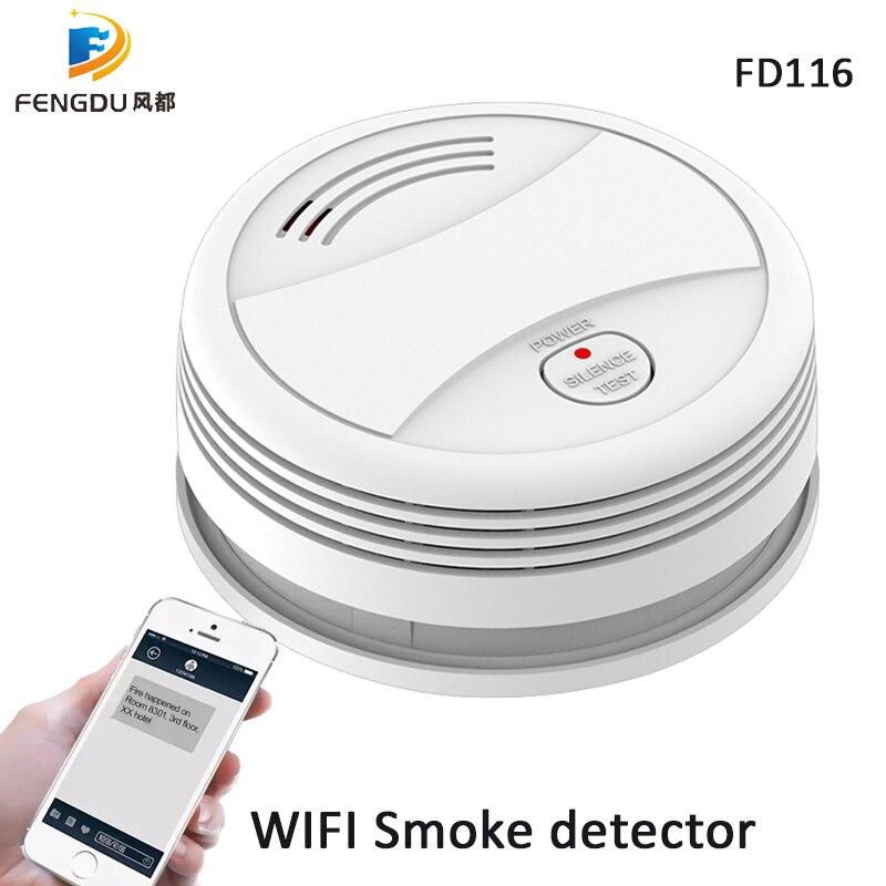 WiFi Smoke Detector Smokehouse Combination Fire Alarm Home Security System Firefighters Tuya Smoke Alarm Fire Protection