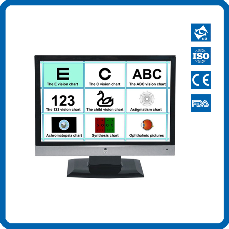 CP-27B Professional eye parts store Multifunction vision test software LCD Chart with Ruler can be used on your computer image