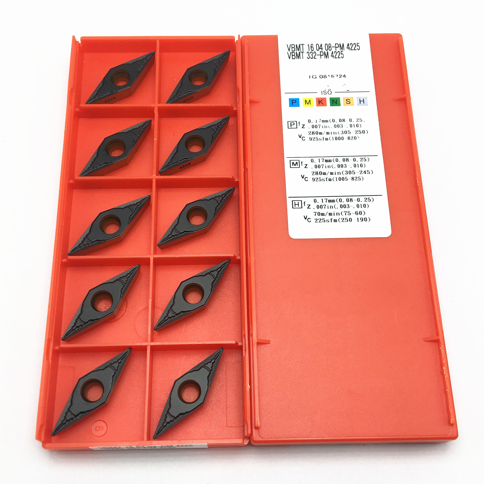 VNMG332-PM YBC251 CNC Carbide Insert Blades 10pcs ZCC.CT VNMG160408-PM
