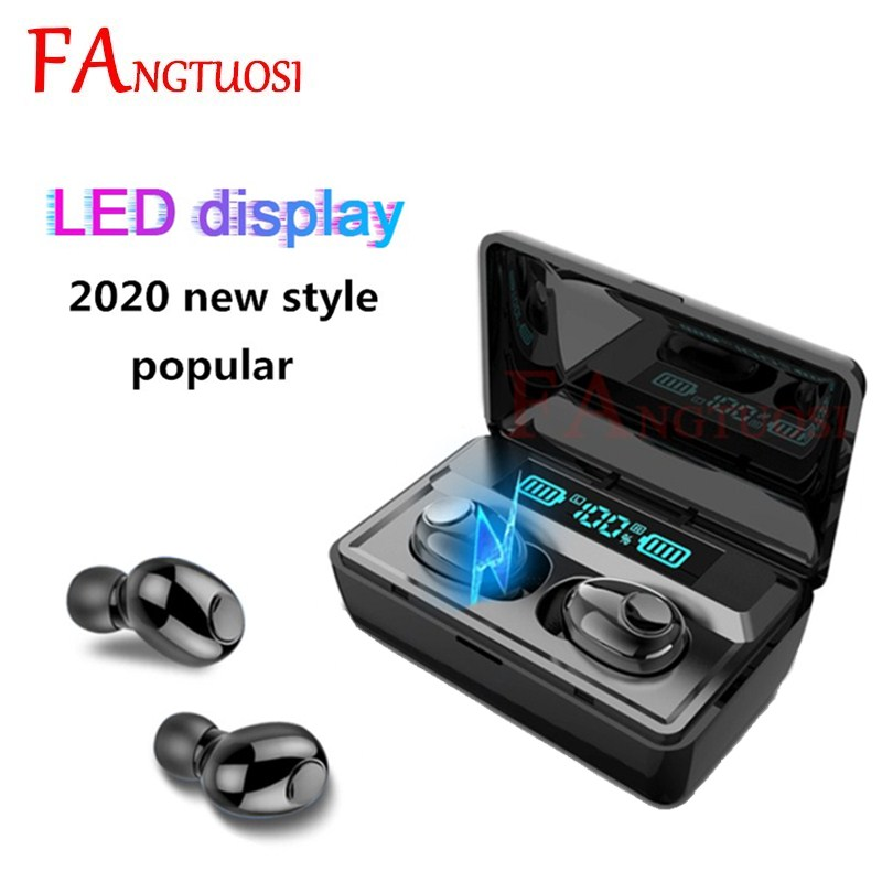 FANGTUOSI TWS Bluetooth 5.0 Earphone Stereo Wireless Bluetooth Headset Active Noise Cancellation With Mic Handsfree Earbuds