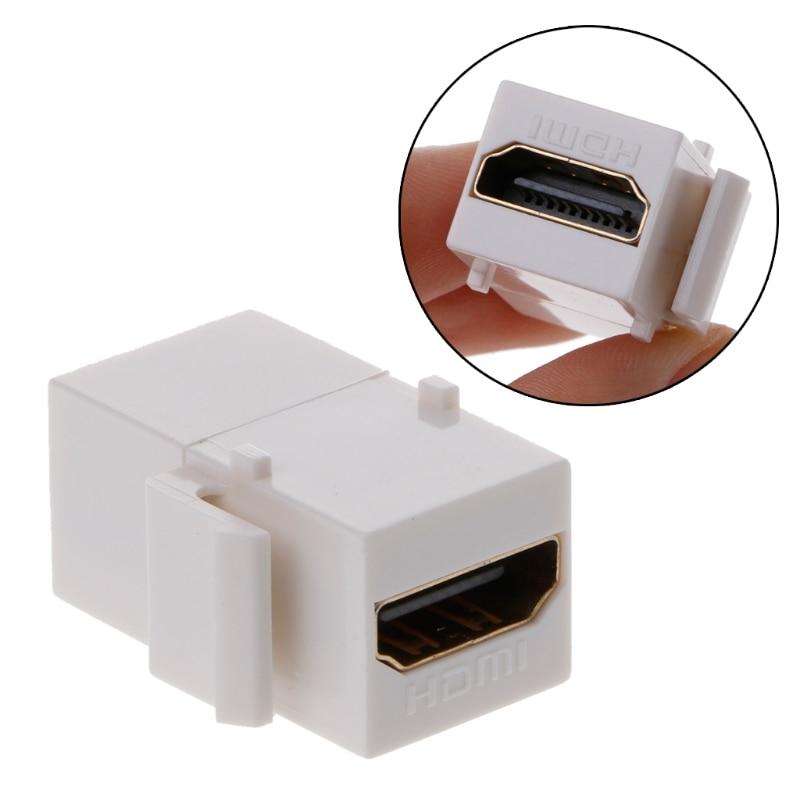 1PC Keystone HDMI Connector HDMI Insert Coupler Slot Female To Female