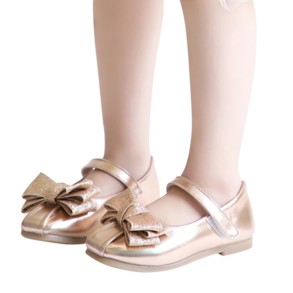 Toddler Kids Baby Girls Cute Bowknot Rabbit Ear Single Princess Sneakers Shoes
