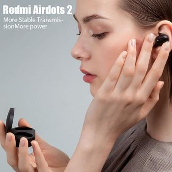 Xiaomi Redmi Airdots 2 TWS Wireless Earphones Bluetooth Headphones Headset With Mic Original Redmi Airdots 2 Wireless Headphones 5