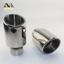 Free shipping Newest Style stainless steel universal exhaust system end pipe+car exhaust tip 1 piece 1pc 3 5ml hussar the end style rta 22mm rebuildable tank atomizer 316 stainless steel with free one 510 drip tip