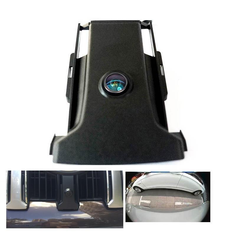 180deg CCD HD Car FRONT GRILLE View Camera For Toyota LAND CRUISER PRADO 150 Fj150 2014 2015 Front Park Camera Night Vision