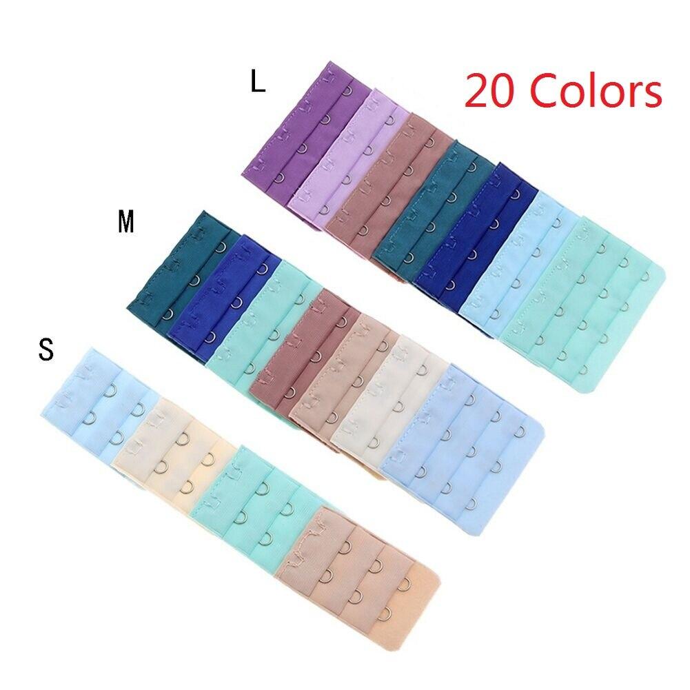 20 Colors Buckle Extended Lengthened Belt Bra Extenders 3 Rows 2 Hooks 3 Hooks 4 Hooks Extension Accessories For Underwear