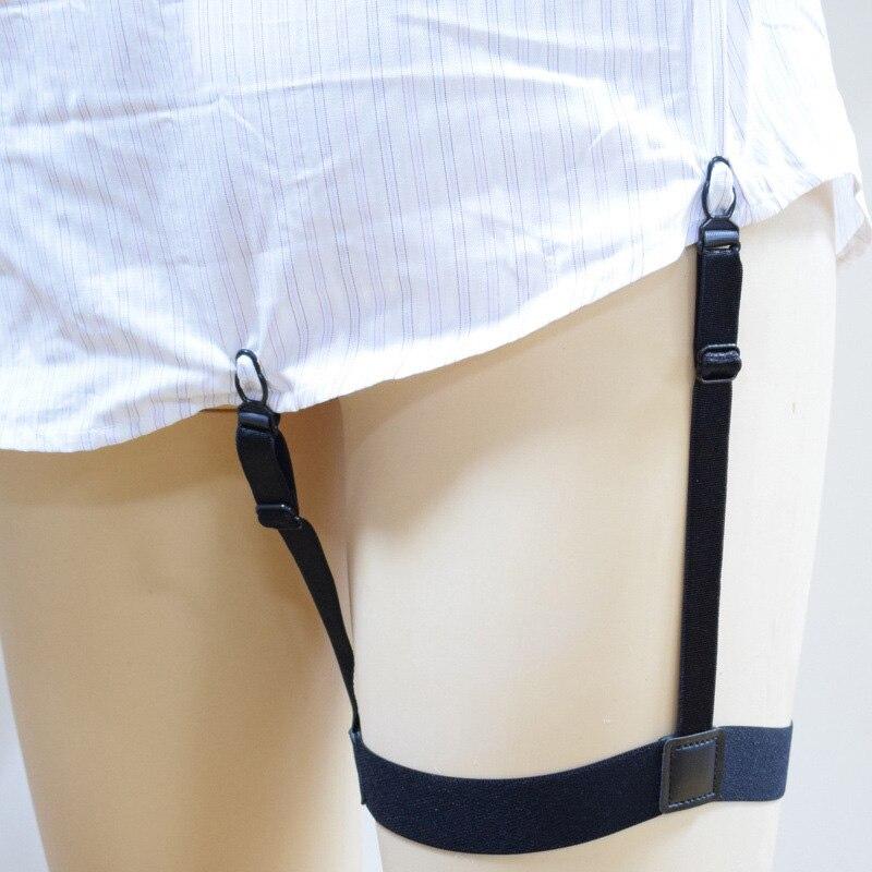 2Pcs Men Shirt Stays Garter Belt With Non-slip Locking Clips Suspender Garters Strap NIN668