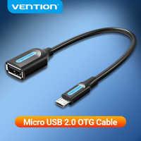 Vención de la Micro USB OTG adaptador de Cable Micro USB a USB conector para Xiaomi Samsung Huawei Tablet Android USB 2,0 adaptador de OTG