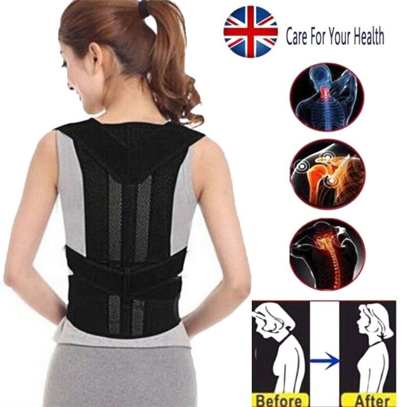 Unisex Black Posture Corrector Corset Beauty Adult Belt Polyester Fiber Body Contouring
