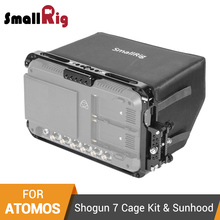 SmallRig Monitor Screen Cage With Sunhood/HDMI Cable Clamp for Atomos Shogun 7 Monitor Cage Kit With Built-in Nato Rail -2409