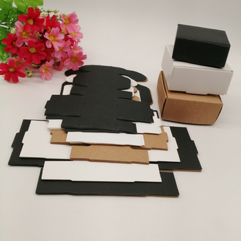 50pcs Black/White/Kraft Paper Box for Gifts Box Jewlery Display Storage Watch Earring Packaging Box Wedding Cake Paper Gift Box 50pcs windowed cupcake boxes white brown kraft paper box gift packaging for wedding festival party 6 cup cake holders customized
