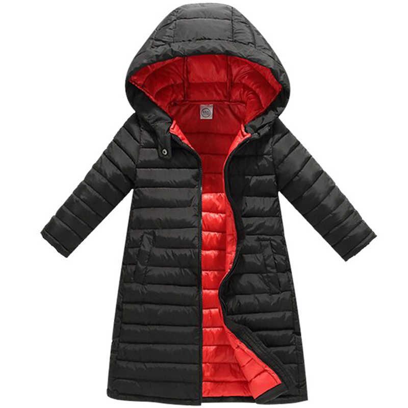 ילדים בנות מעיל 2018 סתיו חורף מעיל בנות מעיל תינוק חם ברדס הלבשה עליונה מעיל בנות בגדי ילדים למטה מעיילים