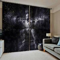 Hercules people curtains sport  3D Window Curtains For Living Room Bedroom Drapes cortinas Customized size