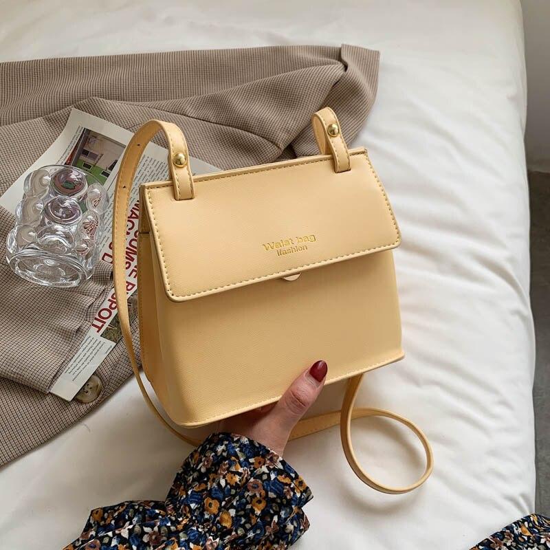 Повседневные Водонепроницаемые кожаные сумки через плечо для женщин 2021, модная простая женская дизайнерская сумка-мессенджер, сумка через ...