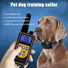 Dog Collar Waterproof Rechargeable Electric Dog Training Collar With Remote Controller Electric Pet Dog Training Collar