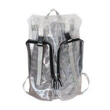 Модный рюкзак из ПВХ женская прозрачная сумка крепости многофункциональная