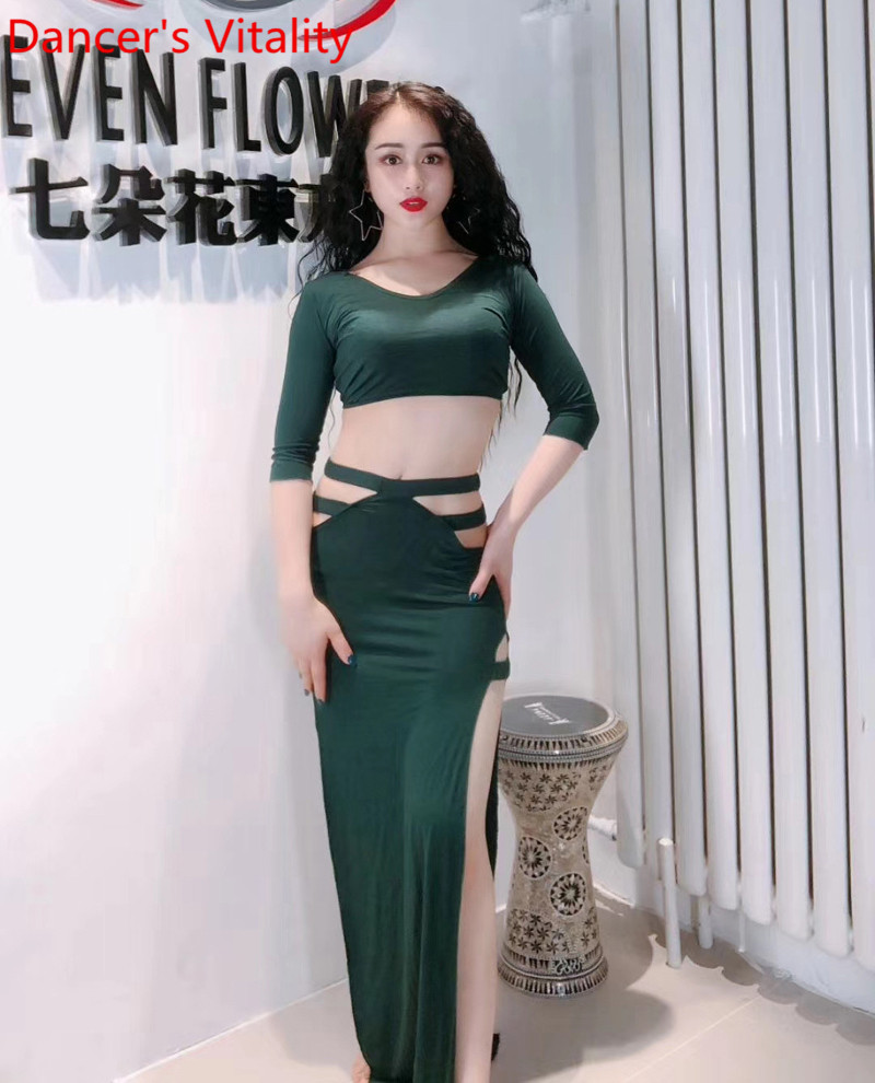 Clothing Suit Long-Skirt Belly-Dance Sexy Adult Profession Competition New Top Female