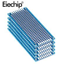 10 sztuk elektroniczna płytka drukowana 3x7cm Diy uniwersalne drukowane płytki drukowane 3*7cm dwustronnie prototypowanie PCB dla Arduino miedziana taca tanie tanio CN (pochodzenie) standard 1 6mm 3x7cm Protoboard Electronic Soldering Board For Arduino PCB Plate 2 54mm 1 0mm 30*70mm Double Sided Pcb Board