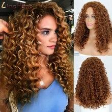 Linghang Короткие афро парики для чернокожих женщин кудрявые