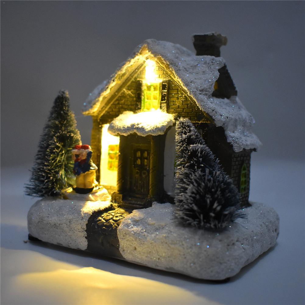 Рождественское украшение, настольная лампа, реквизит, светодиодный светильник на Хэллоуин, снежный домик, Рождественская елка, вечерние