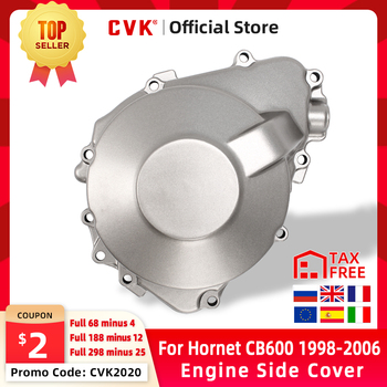 цена на CVK Engine Cover Motor Stator CrankCase Side Cover Shell For Honda Hornet 600 CB600 1998 1999 2000 2001 2002 2003 2004 2005 2006