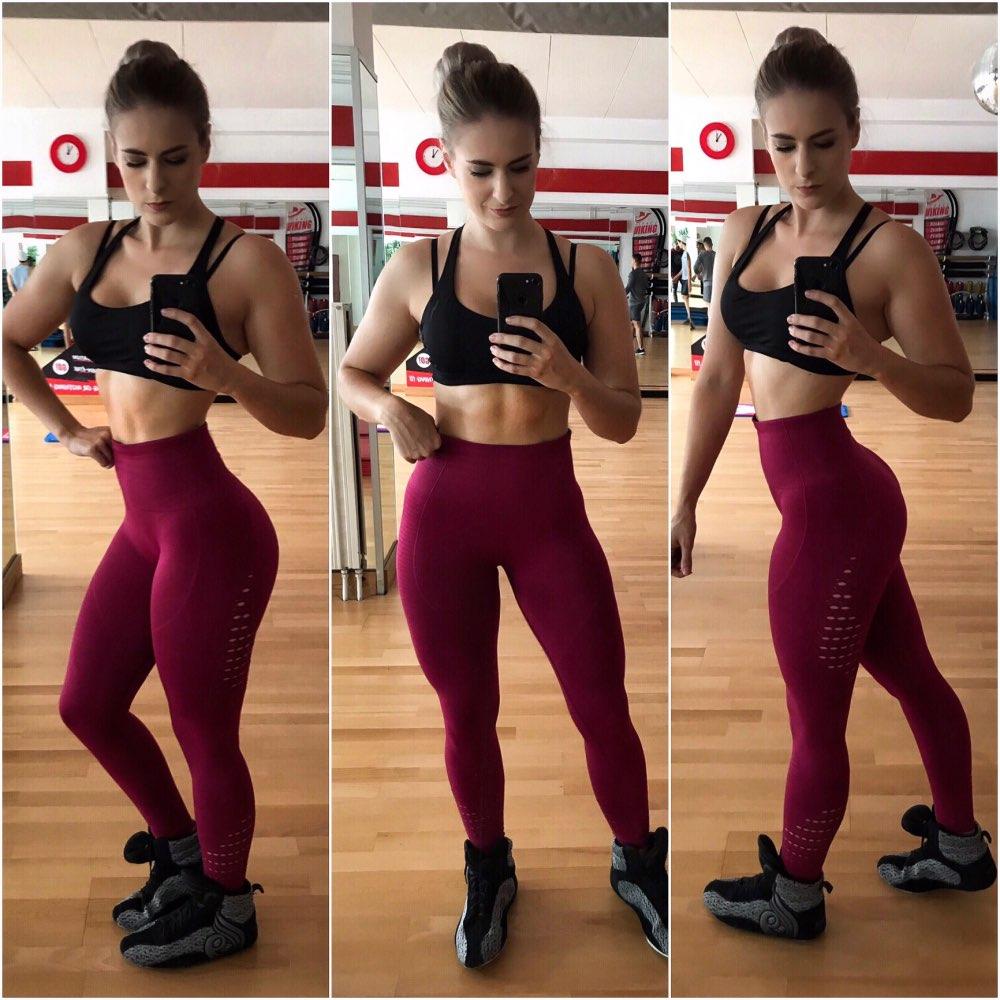 CHRLEISURE Women High Waist Push Up Leggings Hollow Fitness Leggins Workout Legging For Women Casual Jeggings 4Color 6