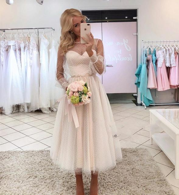 Big Offer Af7821 Lace Point Long Sleeves Communion Dresses Evening Dress Prom Party Robe De Soiree Longue Formal Dress Simple Robe De Soiree Lace Cicig Co