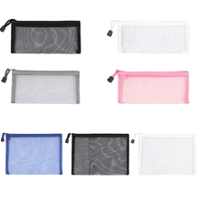 Pen-Box Transparent Office Cases Document-Bags Stationery School-Supplies Student Simple