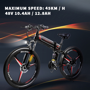 electric bike Mountain Electric Bicycle 48V 350W Folding Mountain Bike for Adult 21 Speed Electric Bike Off Road