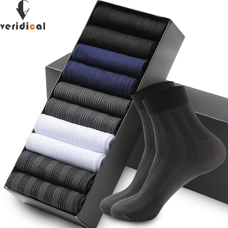 10Pairs Business Men Silk Socks Tear-resistant Breathable Casual Socks Ultra-thin Coolest Nylon Man Socks Stretchy Stockings