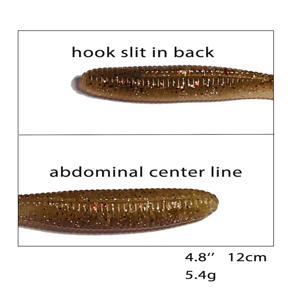 Купить с кэшбэком Fishing Lure  Bait Soft Lures Pin-tail Baitfish Worm Swimbait Shad Silicon Rubber Impact  32pcs 12cm 5.4g