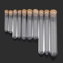 20 unidades/pacote tubo de teste de vidro do laboratório vazio scented 20x150mm transparente com cortiça suprimentos educacionais planos tubos de armazenamento de doces da bebida