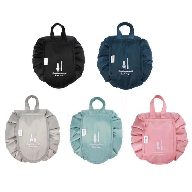 Lazy makeup bag travel home large capacity waterproof portable storage drawstring bag makeup wash bag