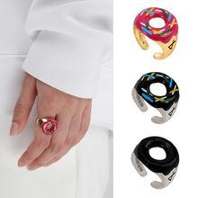Корейское креативное кольцо с пончиком для женщин женское Открытое