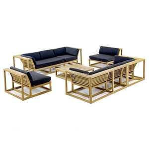 New design outdoor teak corner sofas leisure waterproof patio garden sets furniture