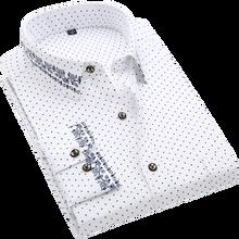 Men Shirt Long Sleeve Floral Printing Plaid Fashion Pocket Casual Shirts 100% Polyester Soft Comfortable Men Dress Shirt DS375(China)