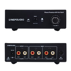Record Player Vinyl Record Player Mm Phono Amplifier Preamp Phono Line Switching Input Volume Controller|Amplifier|Consumer Electronics -