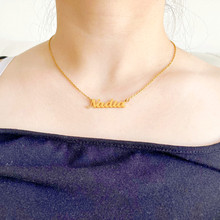 Stainless Steel Choker Custom Name Necklace For Women Personalized Pendant Chain Customized Nameplate Girlfriend Birthday Gift