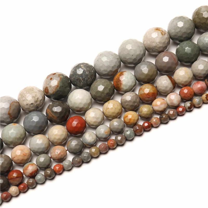 Piedra Natural mate Ojo de Tigre morganita piedras de ágata cuentas redondas para fabricación de joyería DIY pulsera 15 ''4mm 6mm 8mm 10mm 12mm