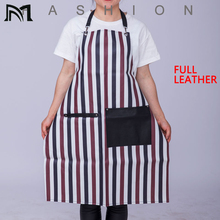 63*82CM Professional Waterproof Full leather Hair Cutting Barber Salon Bib Stripes Hairstylist Apron Hairdressing Tools