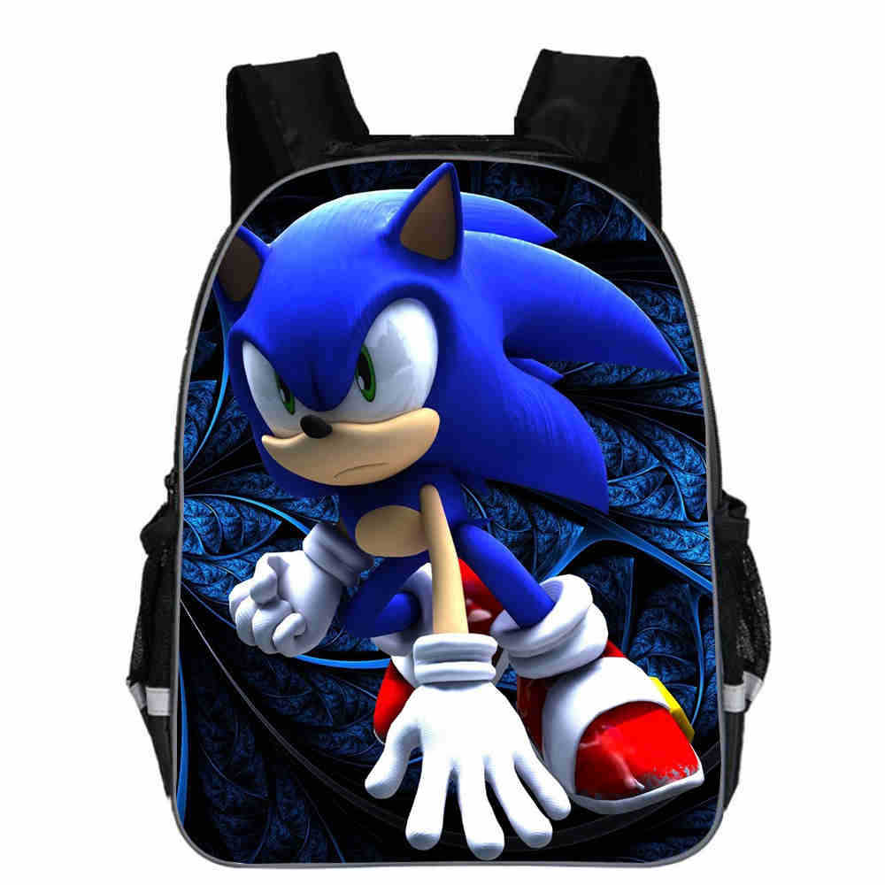 16 Inch Sonic The Hedgehog Mario School Bag For Kids Boy Backpack Children School Sets Pencil Bag Toddler Schoolbag