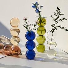 Creative glass Flower vase decoration home decor modern decorative vases hydroponics terrarium bubble Bubble Spherical Art vase