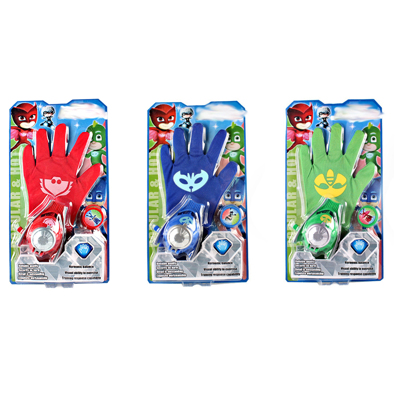 PJ Masks Launcher Toys Children's Pajamas Performance Costume Party Outdoor Cosplay Action Figure Toys Birthday Gifts For Child